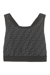 Back crossed tank top, Crop tops Fendi woman