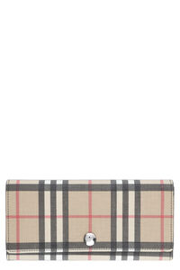 Continental wallet with check motif, Wallets Burberry woman