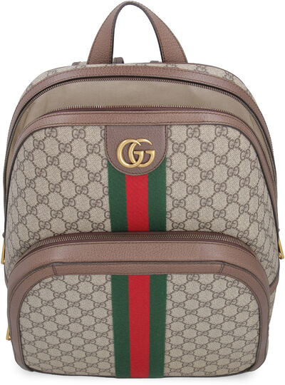 Ophidia GG supreme fabric backpack