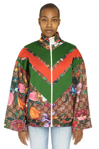 Printed cotton zipped sweatshirt, Zip-up sweatshirts Gucci woman