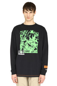 Printed cotton t-shirt, Long sleeve t-shirts Heron Preston man