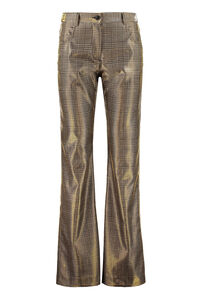 Prince-of-Wales motif trousers, Trousers suits MSGM woman