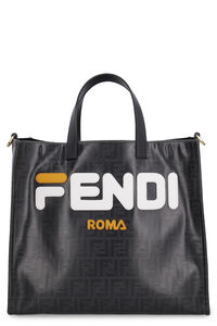Multicolor glazed fabric shopper bag, Tote bags Fendi woman