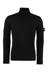Ribbed wool turtleneck sweater, Turtleneck Stone Island man