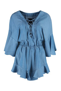 Daria denim playsuit, Playsuits Pinko woman