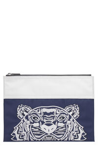 'Colorblock Tiger' nylon pouch-bag, Poches Kenzo man