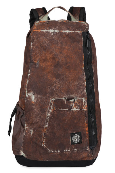Paintball effect print fabric backpack