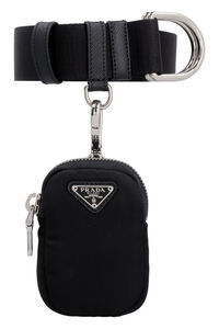 Fabric belt with logo, Belts Prada woman