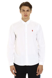Cotton shirt with button-down collar, Plain Shirts AMI man
