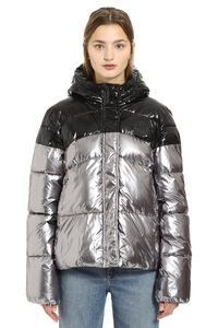 Punch hooded down jacket, Down Jackets Pinko woman
