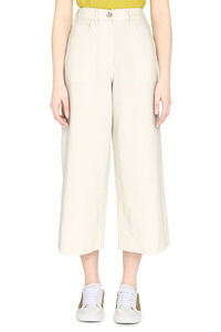 Cotton-linen culotte-pants, Wide leg pants Kenzo woman