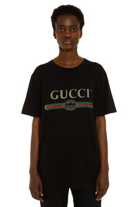 Oversize cotton t-shirt with logo, T-shirts Gucci woman