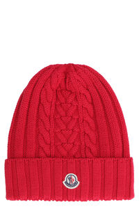Cable knit beanie, Hats Moncler woman