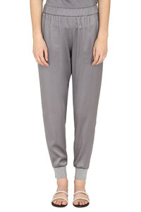 Stretch satin trousers, Tapered pants Fabiana Filippi woman