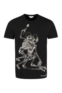 Printed cotton T-shirt, Short sleeve t-shirts Alexander McQueen man
