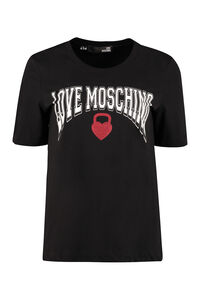 Printed cotton t-shirt, T-shirts Love Moschino woman