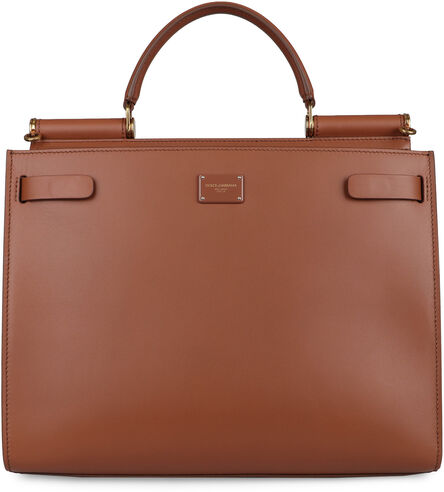 Sicily 62 leather tote bag, Top handle Dolce & Gabbana woman