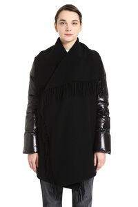 Wool cape with logo, Capes Moncler woman