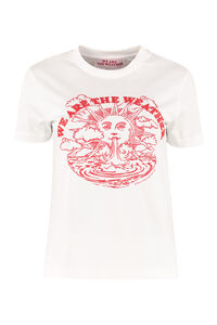 We are the Weather print cotton T-shirt, T-shirts Stella McCartney woman