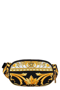 Canvas and leather belt bag, Beltbag Versace man