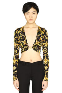 Printed jersey top, Blouses Versace woman
