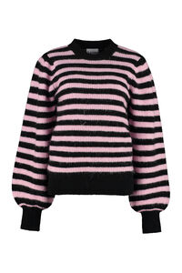 Striped crew-neck sweater, Crew neck sweaters GANNI woman