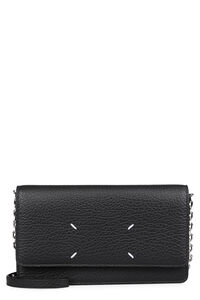 Leather wallet on chain, Clutch Maison Margiela woman