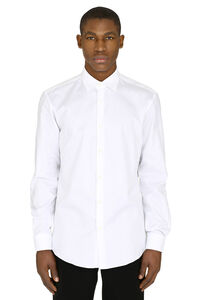 Cotton jacquard shirt, Plain Shirts Salvatore Ferragamo man