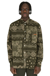 Houston printed cotton shirt, Printed Shirts Golden Goose man