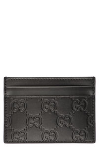 Gucci Signature leather card holder, Wallets Gucci woman