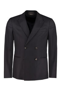 Double-breasted wool jacket, Double breasted blazers Z Zegna man