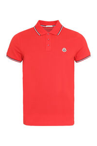 Stretch cotton piqué polo shirt, Short sleeve polo shirts Moncler man