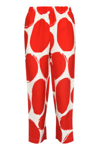 Printed cady trousers, Tapered pants Marni woman