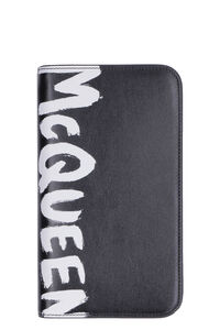 Leather zip-around wallet, Wallets Alexander McQueen man