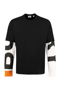 Printed cotton T-shirt, Long sleeve t-shirts Burberry man