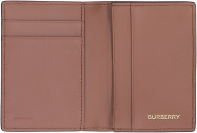 Leather flap-over card holder