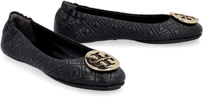 Minnie quilted leather ballet flats