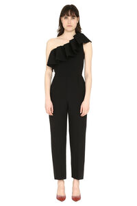 Ruffled one-shoulder jumpsuit, Full Length jumpsuits MSGM woman