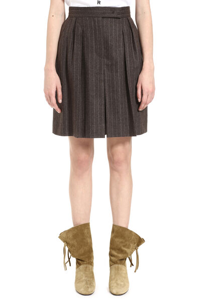Virgin wool and cashmere bermuda-shorts