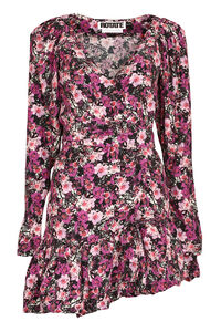 Nancy floral print wrap dress, Mini dresses ROTATE Birgerchristensen woman