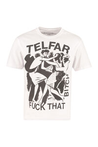 Printed cotton T-shirt, Sustainability Telfar man