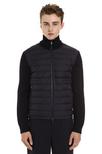 Padded front panel cardigan, Down jackets Moncler man