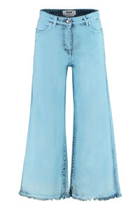 Frayed hem culotte jeans, Cropped Jeans MSGM woman