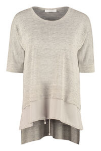Linen sweater, Blouses Fabiana Filippi woman