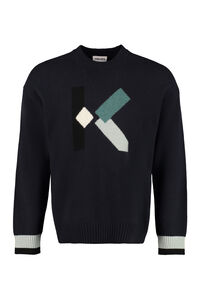 Wool-blend crew-neck sweater, Crew necks sweaters Kenzo man