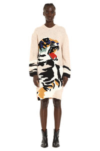 Intarsia sweater-dress, Mini dresses Kenzo woman
