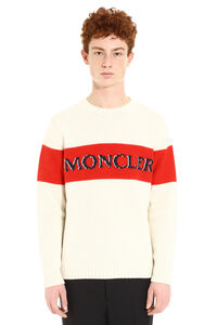 Tricot-knit wool sweater, Crew necks sweaters 2 Moncler 1952 man