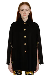 Wool cape with printed lining, Capes Versace woman