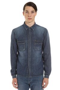 Long sleeve denim shirt, Denim Shirts Saint Laurent man