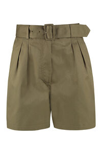 Bloom belted gabardine shorts, Shorts Department 5 woman